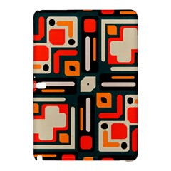 Shapes In Retro Colors Texture                   			samsung Galaxy Tab Pro 10 1 Hardshell Case