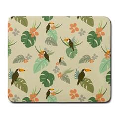 Tropical Garden Pattern Large Mousepads