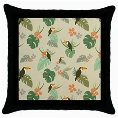 Tropical Garden Pattern Throw Pillow Case (black)