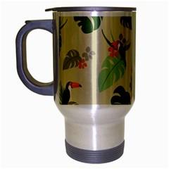 Tropical Garden Pattern Travel Mug (silver Gray)