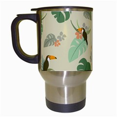 Tropical Garden Pattern Travel Mugs (White)