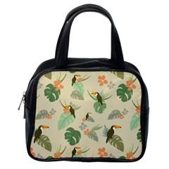 Tropical Garden Pattern Classic Handbags (one Side)