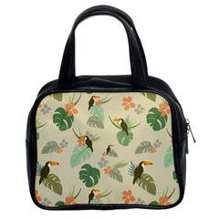 Tropical Garden Pattern Classic Handbags (2 Sides)