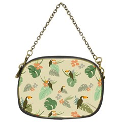 Tropical Garden Pattern Chain Purses (One Side)