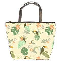 Tropical Garden Pattern Bucket Bags