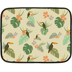 Tropical Garden Pattern Fleece Blanket (Mini)