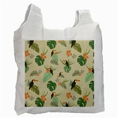 Tropical Garden Pattern Recycle Bag (Two Side)