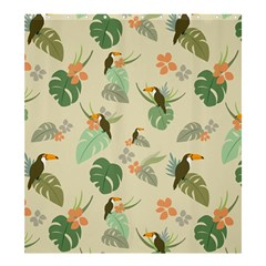 Tropical Garden Pattern Shower Curtain 66  x 72  (Large)