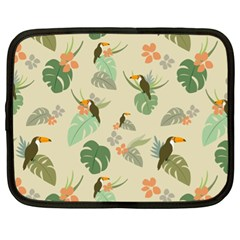 Tropical Garden Pattern Netbook Case (XL)