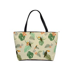 Tropical Garden Pattern Shoulder Handbags