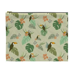 Tropical Garden Pattern Cosmetic Bag (xl)