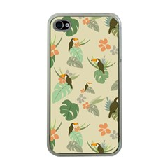Tropical Garden Pattern Apple Iphone 4 Case (clear)