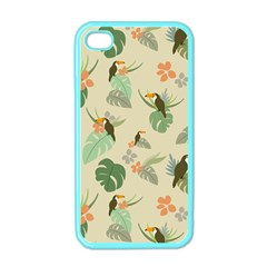 Tropical Garden Pattern Apple iPhone 4 Case (Color)