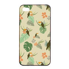 Tropical Garden Pattern Apple Iphone 4/4s Seamless Case (black)
