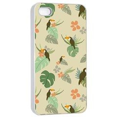 Tropical Garden Pattern Apple iPhone 4/4s Seamless Case (White)