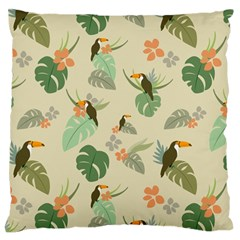 Tropical Garden Pattern Large Cushion Case (Two Sides)