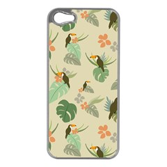Tropical Garden Pattern Apple Iphone 5 Case (silver)
