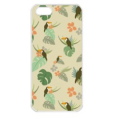 Tropical Garden Pattern Apple Iphone 5 Seamless Case (white)