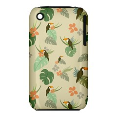 Tropical Garden Pattern Apple iPhone 3G/3GS Hardshell Case (PC+Silicone)