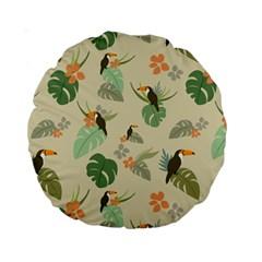 Tropical Garden Pattern Standard 15  Premium Round Cushions