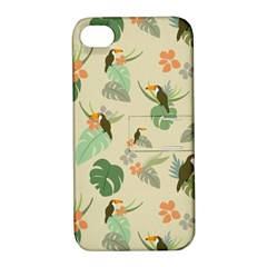 Tropical Garden Pattern Apple iPhone 4/4S Hardshell Case with Stand