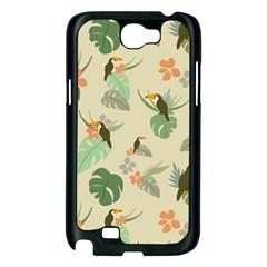 Tropical Garden Pattern Samsung Galaxy Note 2 Case (Black)