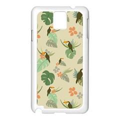 Tropical Garden Pattern Samsung Galaxy Note 3 N9005 Case (White)