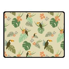 Tropical Garden Pattern Double Sided Fleece Blanket (Small)