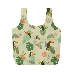 Tropical Garden Pattern Full Print Recycle Bags (M)