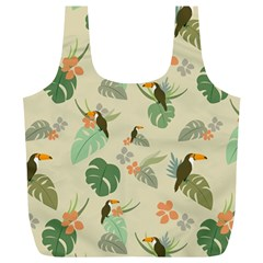 Tropical Garden Pattern Full Print Recycle Bags (L)