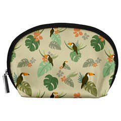 Tropical Garden Pattern Accessory Pouches (Large)
