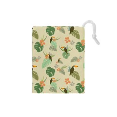 Tropical Garden Pattern Drawstring Pouches (Small)