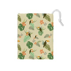 Tropical Garden Pattern Drawstring Pouches (Medium)