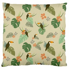 Tropical Garden Pattern Large Flano Cushion Case (One Side)