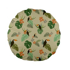 Tropical Garden Pattern Standard 15  Premium Flano Round Cushions