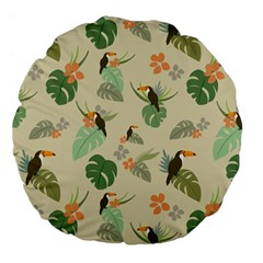 Tropical Garden Pattern Large 18  Premium Flano Round Cushions