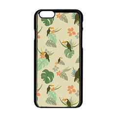 Tropical Garden Pattern Apple iPhone 6/6S Black Enamel Case