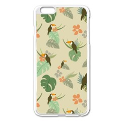 Tropical Garden Pattern Apple iPhone 6 Plus/6S Plus Enamel White Case