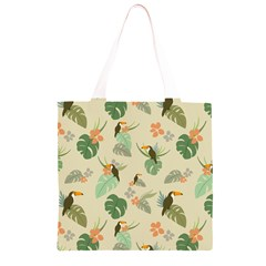 Tropical Garden Pattern Grocery Light Tote Bag