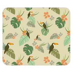 Tropical Garden Pattern Double Sided Flano Blanket (small)