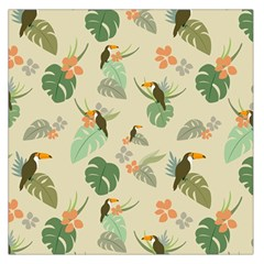 Tropical Garden Pattern Large Satin Scarf (Square)