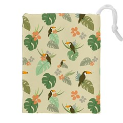 Tropical Garden Pattern Drawstring Pouches (XXL)