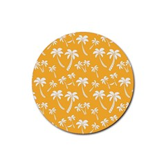 Summer Palm Tree Pattern Rubber Round Coaster (4 Pack)
