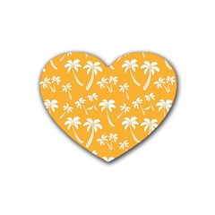 Summer Palm Tree Pattern Heart Coaster (4 Pack)