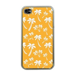 Summer Palm Tree Pattern Apple Iphone 4 Case (clear)