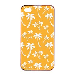 Summer Palm Tree Pattern Apple Iphone 4/4s Seamless Case (black)