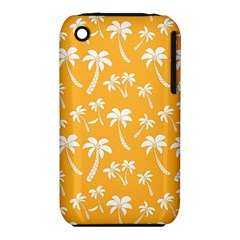 Summer Palm Tree Pattern Apple iPhone 3G/3GS Hardshell Case (PC+Silicone)