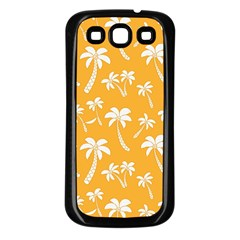 Summer Palm Tree Pattern Samsung Galaxy S3 Back Case (black)