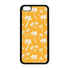 Summer Palm Tree Pattern Apple Iphone 5c Seamless Case (black)