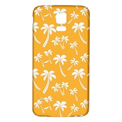 Summer Palm Tree Pattern Samsung Galaxy S5 Back Case (White)